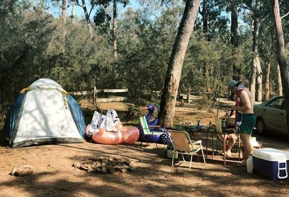 blue pool camping