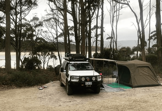 free camping bruny island