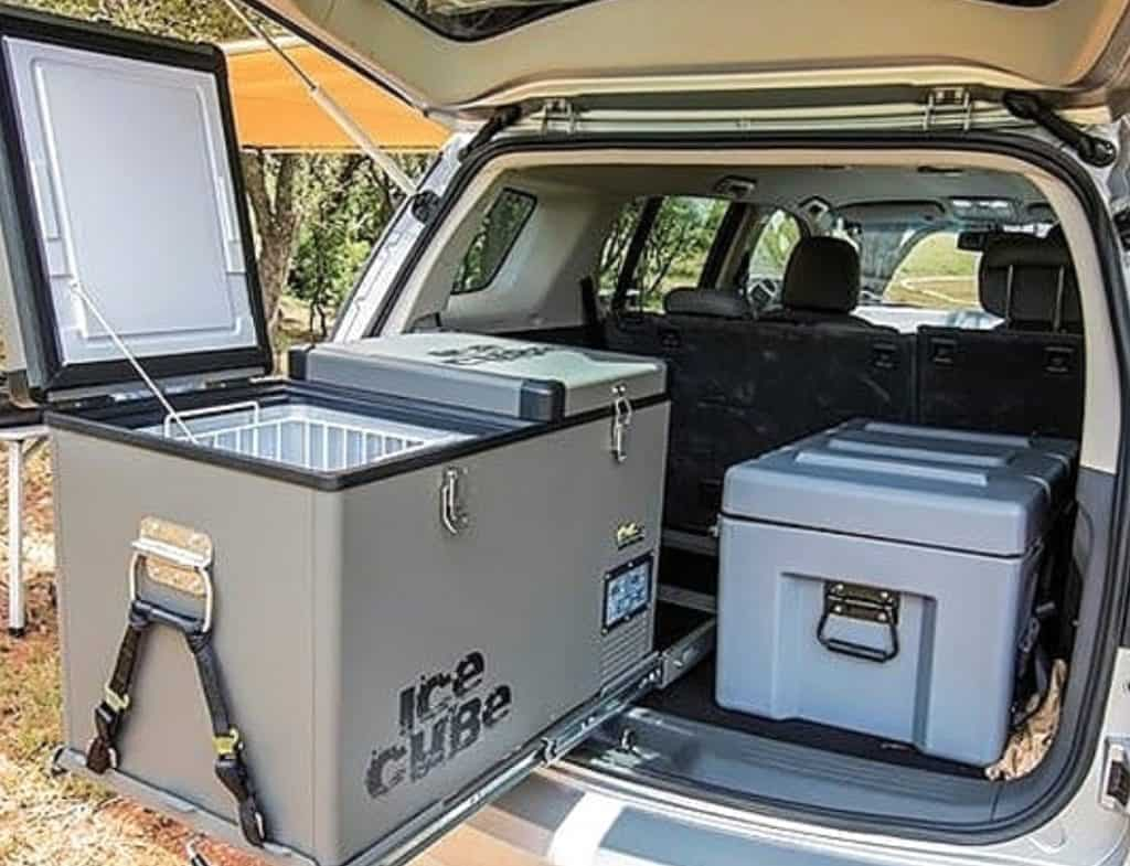 best way to power a camping fridge