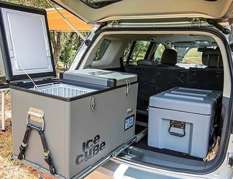 What is the best way to power a camping fridge?