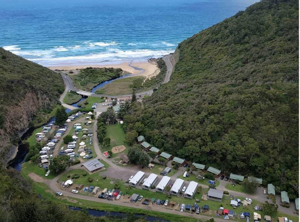 cumberland river camping aerial view